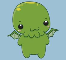 chibi cthulhu - the green monster Kids Clothes