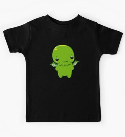 chibi cthulhu - the green monster Kids Tee
