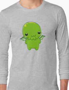 chibi cthulhu - the green monster Long Sleeve T-Shirt