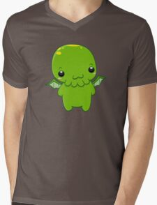 chibi cthulhu - the green monster Mens V-Neck T-Shirt