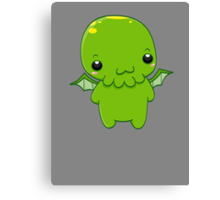 chibi cthulhu - the green monster Canvas Print