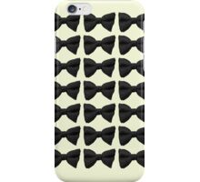 Many Bow Ties- Black iPhone Case/Skin