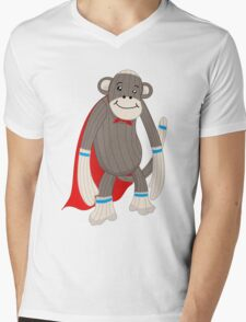 super sock Mens V-Neck T-Shirt