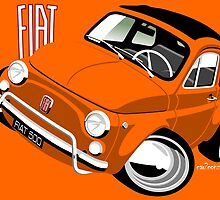 Classic Fiat 500L orange by car2oonz