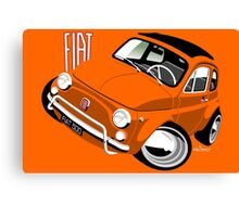 Classic Fiat 500L orange Canvas Print