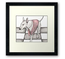 Bull terrier vector Framed Print