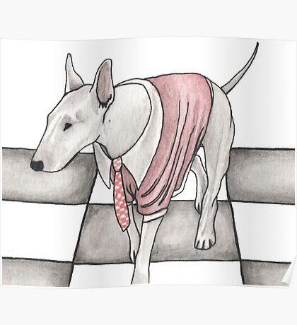 Bull terrier vector Poster