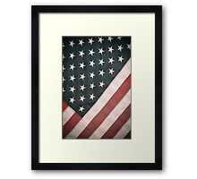 Retro USA Flag Framed Print