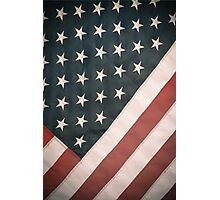 Retro USA Flag Photographic Print