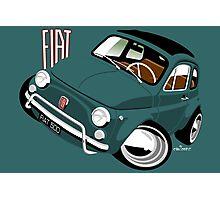 Classic Fiat 500L caricature green Photographic Print