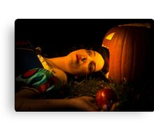 Snow White and the Apple Canvas Print