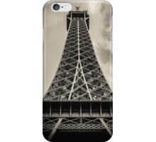 Retro Paris Eiffel Tower With Stormy Sky iPhone Case/Skin
