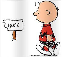 Charlie Brown Hope Poster