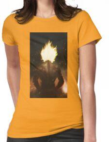 Super Saiyan Goku (Texture) Womens Fitted T-Shirt