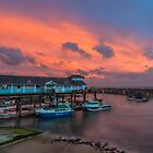 Ventnor Haven Sunset by manateevoyager