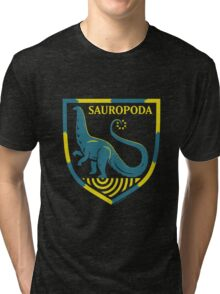 Sauropoda: Dinosaur Coat of Arms Tri-blend T-Shirt