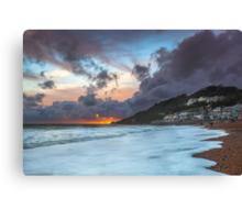 Ventnor Surfers Sunset Canvas Print