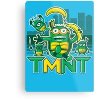 Teenage Minion Ninja Turtles Metal Print