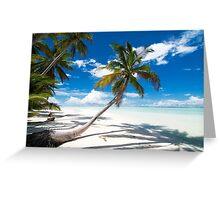 Canoe Beach II - Cocos (Keeling) Islands Greeting Card