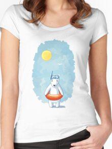 Polar Beach 2 Women's Fitted Scoop T-Shirt