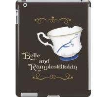 Belle and Rumplestiltskin's cup iPad Case/Skin