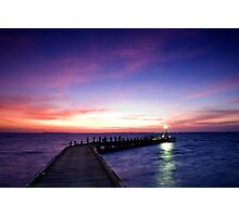 Light on the Jetty - Cocos (Keeling) Islands Photographic Print