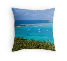 Yachts from Above Throw Pillow