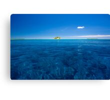 """A Little White Cloud"" - Indian Ocean, Cocos (Keeling) Islands Canvas Print"