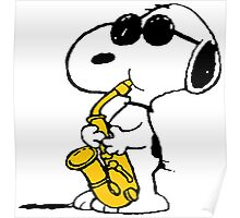 Snoopy sax Poster