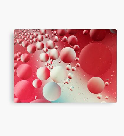 Red abstract bubbles Canvas Print