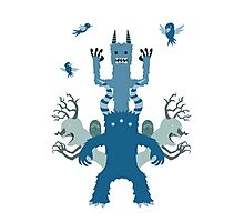 Blue Monsters! Photographic Print