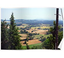 Cathar's view South of France Poster