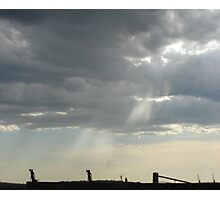 Stormy Steel-city Skyscape Photographic Print