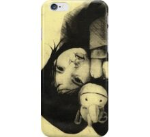 Girl Etching 3 iPhone Case/Skin