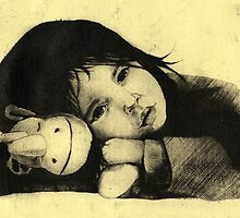 Girl Etching 3 by freeminds
