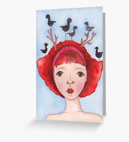 Ruby and the Ravens Greeting Card