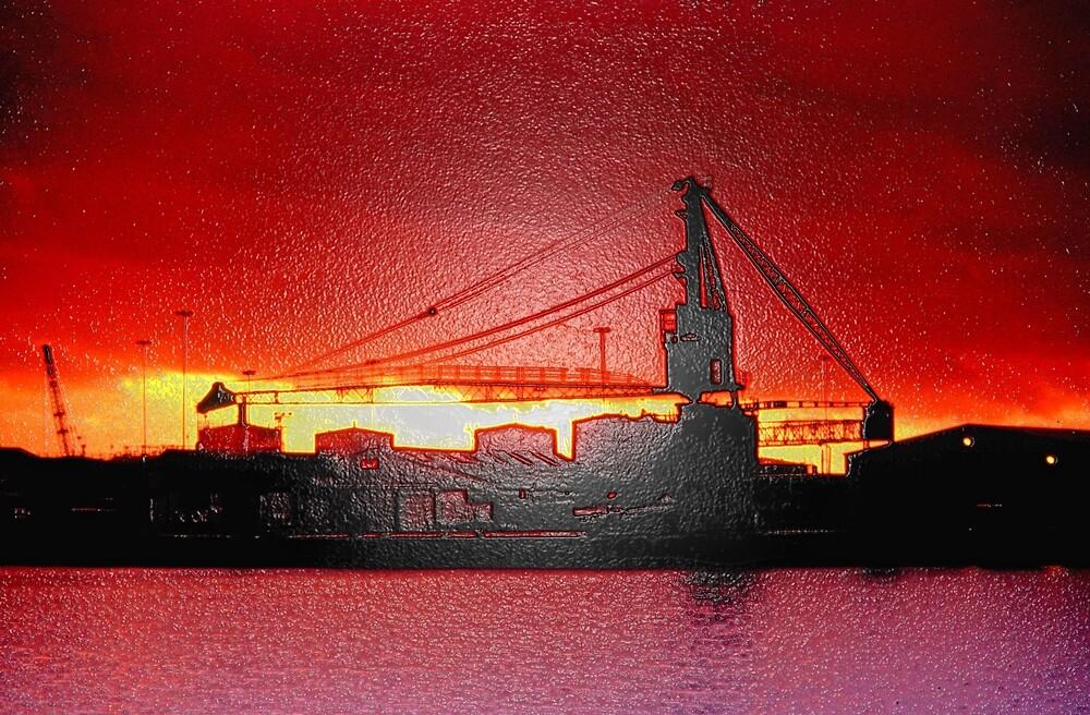 Quay Silhouettes by RedHillDigital