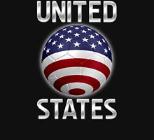 United States - American Flag - Football or Soccer Ball & Text 2 Unisex T-Shirt