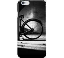 Old bicycle in a dusty attic iPhone Case/Skin
