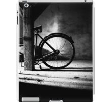 Old bicycle in a dusty attic iPad Case/Skin