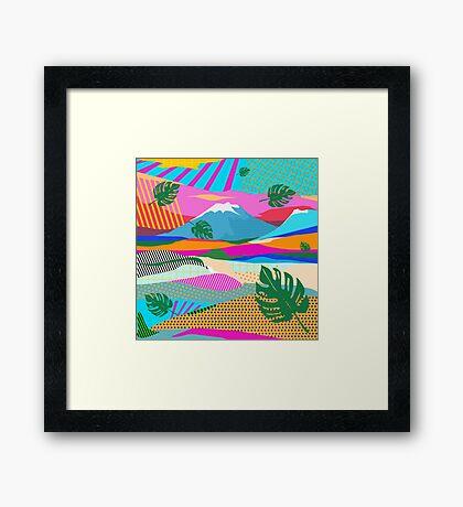 beautiful colors scenery Framed Print