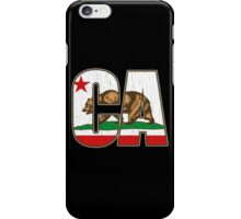California Bear Flag (Distressed Vintage Design) iPhone Case/Skin
