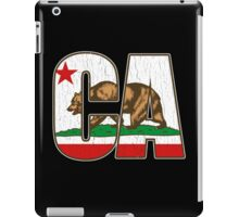 California Bear Flag (Distressed Vintage Design) iPad Case/Skin