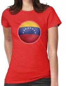 Venezuela - Venezuelan Flag - Football or Soccer 2 Womens Fitted T-Shirt