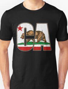 California Bear Flag (Distressed Vintage Design) T-Shirt