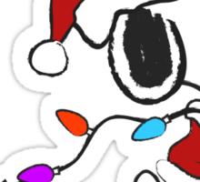 Snoopy - Holiday lights Sticker