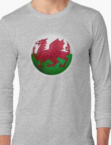 Wales - Welsh Flag - Football or Soccer 2 Long Sleeve T-Shirt