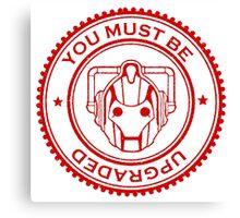 Cybermen Rubber Stamp Canvas Print
