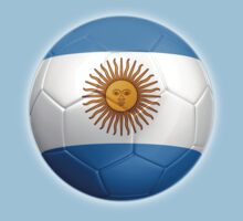 Argentina - Argentine Flag - Football or Soccer 2 by graphix