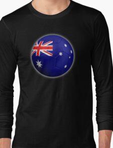Australia - Australian Flag - Football or Soccer 2 Long Sleeve T-Shirt